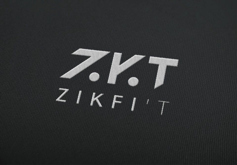 Morgane Guedj graphic designer freelance Perth Western branding logo business card zikfi't zikfit activewear crossfit sport clothing
